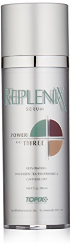 31Hd4ntKcRL - Replenix Power of Three Anti Aging Face Serum with High Potency Antioxidants, Caffeine and Resveratrol, for Soothing Sensitive, Irritated Skin, 1 oz