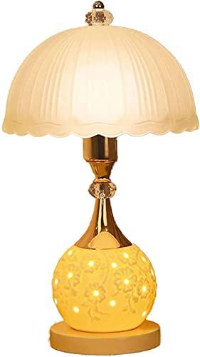 Lámpara de mesa, dormitorio y sala de estar Lámpara de mesita de noche, lámpara moderna que puede controlar el interruptor de doble botón de la fuente de luz superior e inferior por separado (color: b