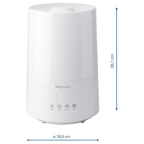 Medisana Medibreeze 60003 Humidificador Intensivo por Ultrasonidos para Dormitorio Infantil y Cuarto u Oficina