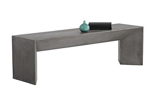 Sunpan Modern Nomad Bench Grey