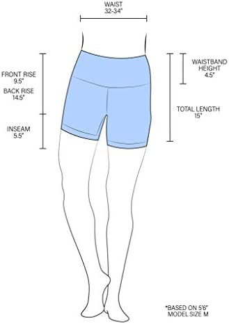 90 Degree By Reflex High Waist Power Flex Yoga Shorts - Tummy Control Biker Shorts for Women 2 Pack
