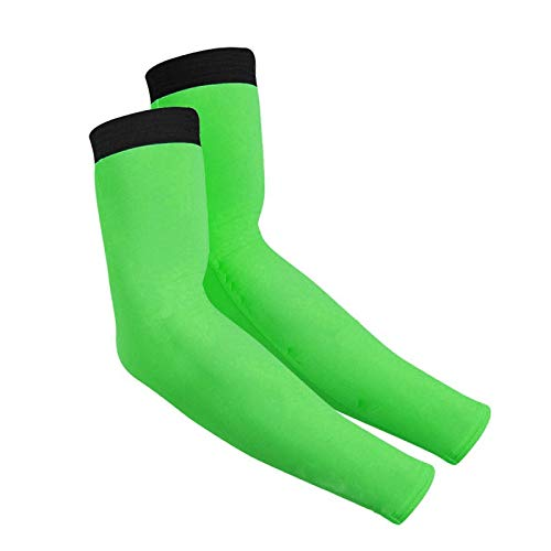 HONG YU 2020 New Men Cycling Running Bicycle UV Sun Protection Cuff Cover Protective Black Yellow Blue Bike Sport Arm Warmers Sleeves (Color : Green, Size : 4XL)