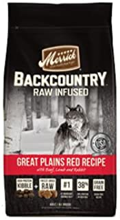 Merrick Backcountry Grain Free Raw Infused Great Plains Red Recipe Dry Dog Food 4lb