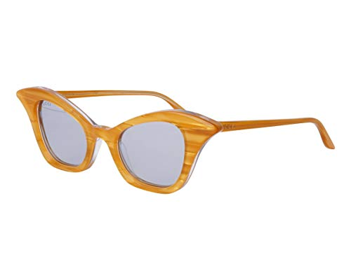 Gucci GG-0707-S 002 - Gafas de sol (cristales de espejo), color amarillo y gris