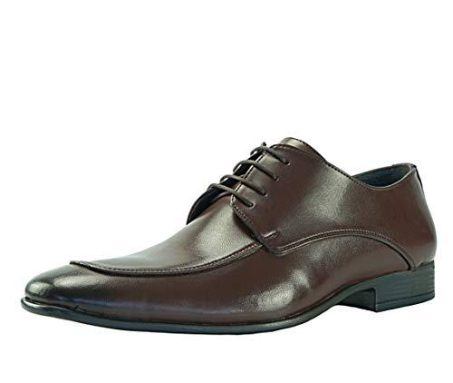 CAPRIUM Smoking Lackschuhe Schnürhalbschuhe Schuhe Schnürer Business Derby Hochzeitsschuhe 0000915R (44 EU, Braun)