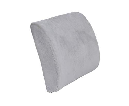 Soporte lumbar, respaldo de espuma viscoelástica, respaldo ergonómico para silla de oficina con banda elástica fija, soporte lumbar para respaldo de coche, protección y calma tu espalda (gris)