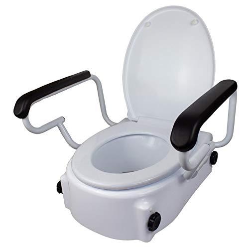 Mobiclinic, Tajo, Elevador WC, Con tapa, 17 cm, Elevador WC para ancianos y discapacitados, Elevador...