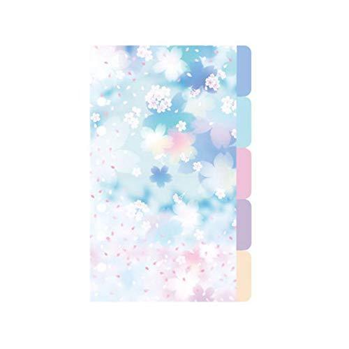 1 Juego de flores de cerezo estilo A5 A6 separador de cuaderno...