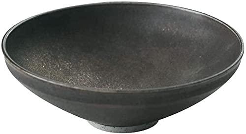 PFTHDE Cuenco de cerámica Cerámica nórdica Hogar Metal esmaltado en Aerosol Placa de Fondo Puntiagudo Cuenco pequeño de Verduras frías Cuenco de Postre Cuenco de Postre