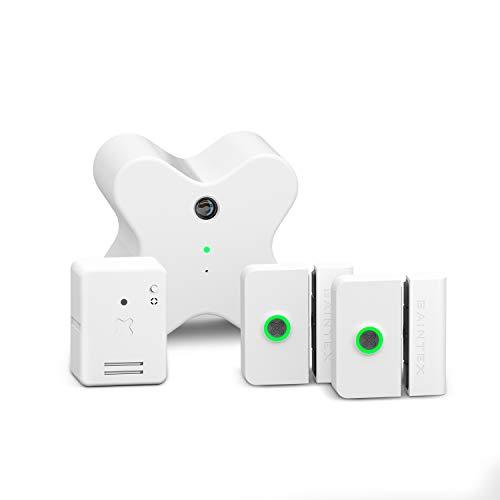 Baintex Sistema de Seguridad Sin Cuota – Incluye 2 Sensores de Movimiento, Cámara de Vigilancia y Control de Iluminación. Fácil Instalación