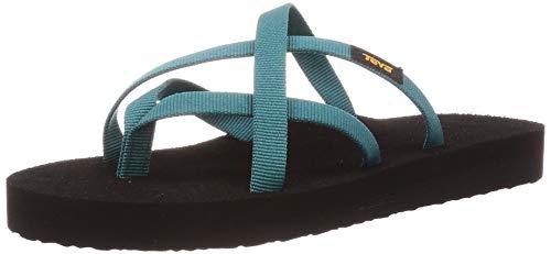Teva Damen Olowahu Sandal Womens Pantoffeln, Blau (Deep Lake Dlk), 40 EU