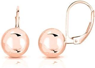 Pendientes de plata de ley 925 para mujer, pendientes de bolas de bola para mujer, 6 mm, 8 mm, 10 mm, 12 mm