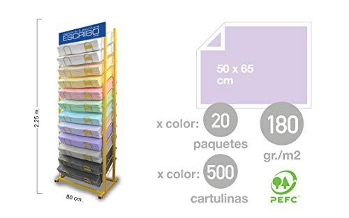 Expositor PROFESIONAL 12 COLORES para Cartulinas de 50x65cm de 12 bandejas, exclusivo para mayoristas.