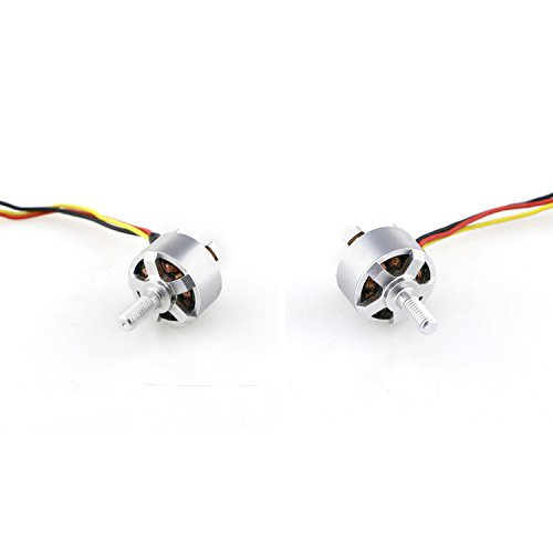 QWinOut 1306 2750KV Brushless CW CCW Motor for MJX Bugs 3 Mini Racing Drone RC Quadcopter Spare Parts (1 Pair CW and CCW Motor)