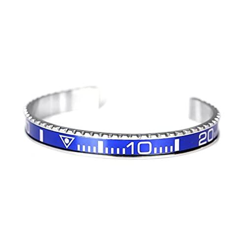 Fashion Trend Multicolor Dial Stainless Steel Speedometer Bracelet Unisex Bracelet Cuff Bracelet Bezel Luxury Jewelry Gift