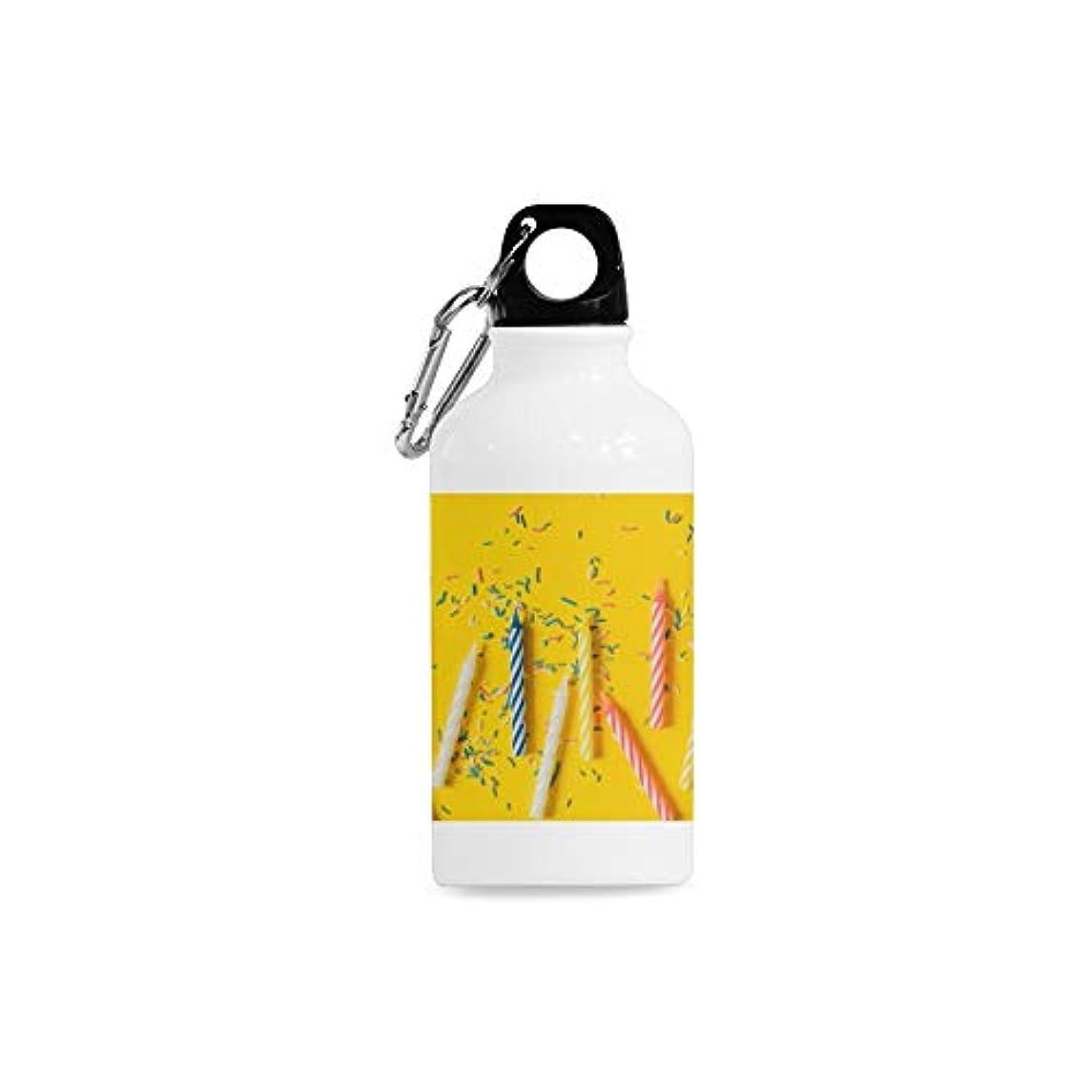 ENEVOTX Outdoor Simple Fashion Travel Burning Candle Orange Brown Romantic Atmosphere Design Creative Style Print Design Sport Water Bottle Aluminum Stainless Steel Bottle Aluminum Sport Water Bottle