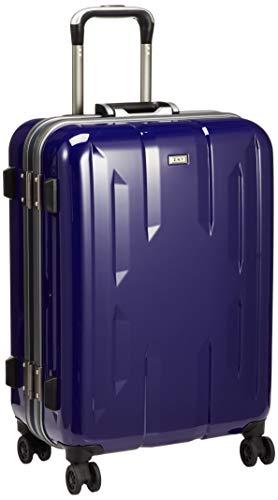 [ゼット・エヌ・ワイ] スーツケース ラウビル 06381 ACE製 フレームタイプ サイレントキャスター 56L 55 cm 4.2kg パープル×ガンメタリック