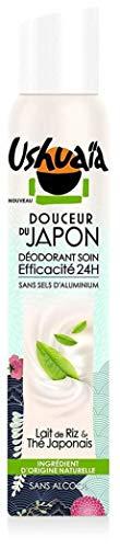 Ushuaïa - Déodorant Femme Atomiseur Douceur du Japon Lait de Riz/Thé Japonnais Efficacité 24h - 200 ml