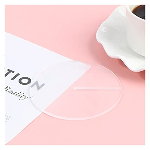 QOXEFPJZ Posavasos Almohadilla de Aislamiento de montaña acrílico Creativo Redondo Taza de café Matura Multifuncional Decoración del hogar Tetera de té Antideslizante Antideslizante (Color : D)
