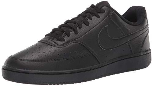 Nike Herren Court Vision LO Basketballschuhe, Schwarz (Black/Black-Black 002), 42 EU