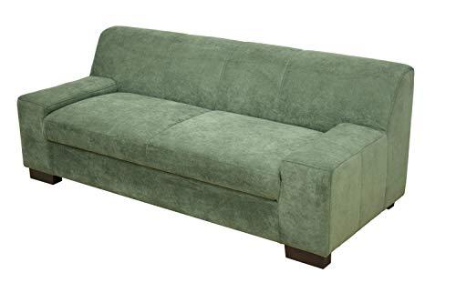 DOMO Collection Norma Sofa / 2er fest / Größe 194 x 85 x 74 cm (BxTxH) / Bezug Polyester grün