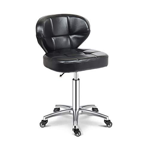 MAANDENG Zadelstoel rolstoel schoonheidssalon keuken spa/verstelbare hoogte/gewicht lager 150kg