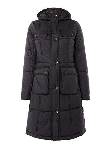 Barbour Damen International Verkleidung, gesteppter Parka, Schwarz, Größe EU 36