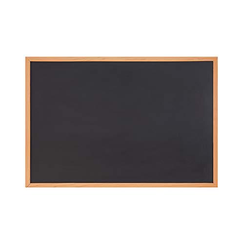 Amazon Brand – Eono Tableau noir Magnétique 90 x 60 cm – avec éléments de fixation, pour maison, école, magasin et bureau