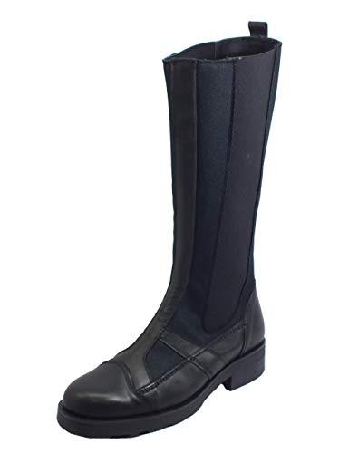OXS 101170 Frank 10 Nylon Leather Black Stiefel aus Leder und Stoff für Damen mit niedrigem Absatz, Schwarz - Schwarz - Größe: 37 EU