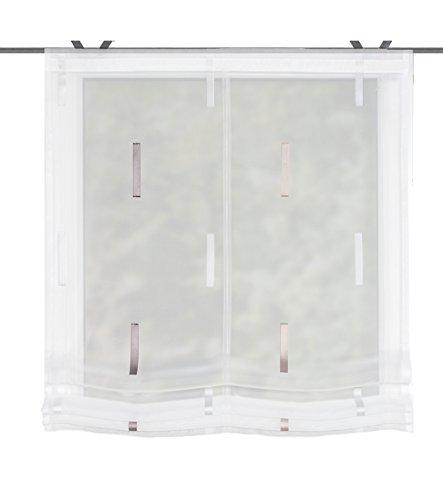 Home Fashion Raffrollo Easy-Fix Scherli, Polyester, Cappuccino, 130 x 80 cm