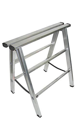 Preisvergleich Produktbild Alu Arbeitsbock - Werkstattbock,  leichter und stabiler Montagebock - Alu Klappbock - Unterstellbock 80cm hoch,  bis 230kg belastbar