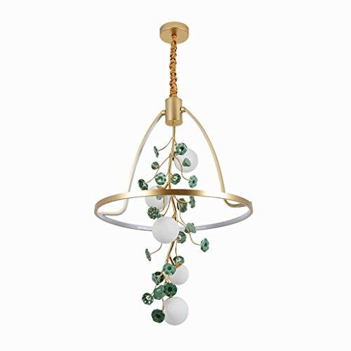 CJshop Lámpara Colgante Estilo Chino Comedor Lámpara de Arte Sala de Estar Creativa Lotus lámpara de la lámpara Lámpara de Techo Colgante