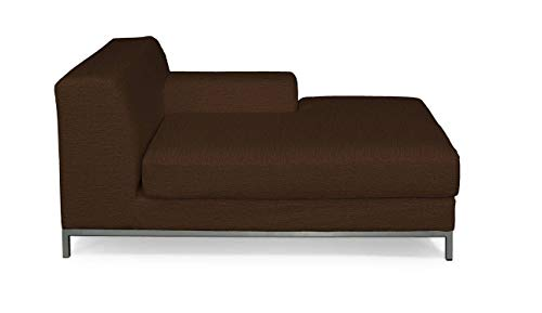 Dekoria Kramfors Recamiere rechts Sofabezug Sofahusse passend für IKEA Modell Kramfors braun