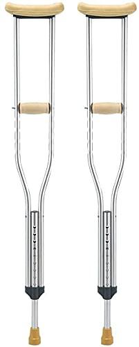 Bastón for hombres y mujeres, muletas axilas muletas muletas for los bastones de ancianos caminatas for los ancianos fracturas antideslizantes (Color : Small, tamaño : Pair)