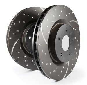 EBC EBC113709 Bremsscheiben Turbo Groove Disc Black Vorne