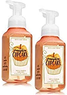 Bath and Body Works 2 Pack Pumpkin Cupcakes Gentle Foaming Hand Soap. 8 Oz