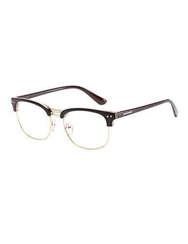 Brillenframe rond frame platte spiegel Retro Ultralicht Unisex Brilmontuur met Case - Modieus montuur decoratief brilmontuur Mannen en Vrouwen