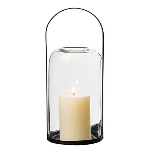 RenShiMinShop Linternas de Vela Decorativas Decoración del hogar Lámpara de Vela de Vidrio de Metal Linternas Decorativas Portavelas de Aroma Lámpara de Mesa (Velas no Incluidas)