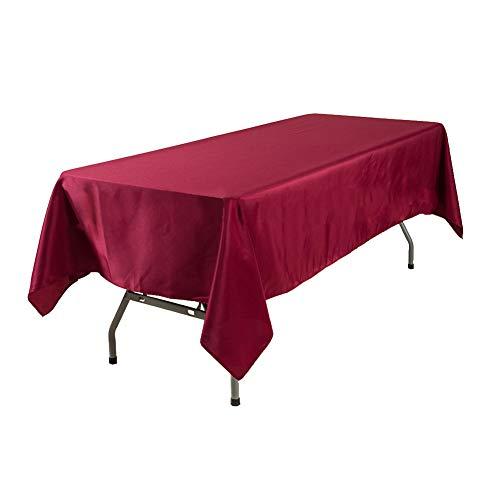 XdiseD9Xsmao tafelkleed van polyester, duurzaam, zacht, onderhoudsvriendelijk, stijlvol, voor kantoor, restaurant, feestdecoratie LNone Rode Wijn