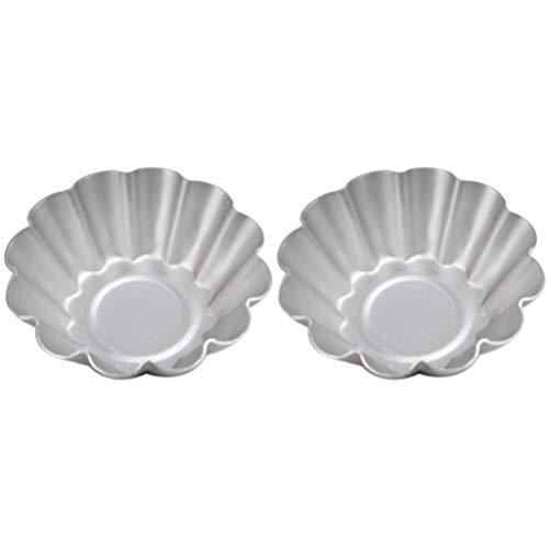 Hemoton 2 Piezas Molde para Tarta de Huevo Moldes de Aleación de Aluminio Moldes para Magdalenas Latas Sartenes Antiadherentes Moldes para Tartas Moldes para Pudín para Cocina