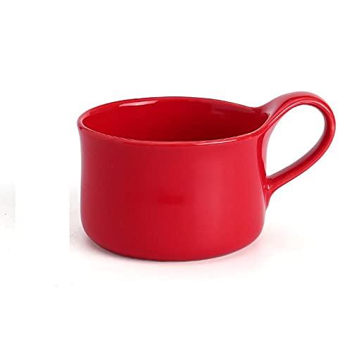 mglxzxxzc Taza De Porcelana De Color Rojo Amarillo Rosa Gris Azul Glaseado Taza De Café De Cerámica Decoración De La Mesa del Hogar Creativo-250Ml