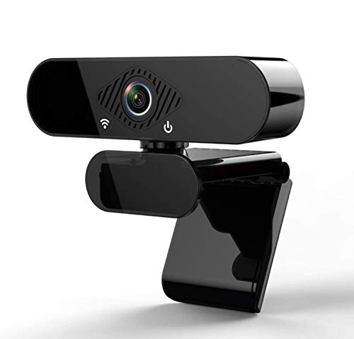 1080P Webcam with Microphone, HD PC Webcam Laptop Plug and Play USB Webcam Streaming Computer Web Camera with 110-Degree View Angle, Desktop Webcam for Video Calling Recording Black