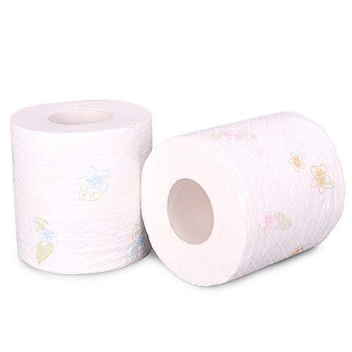 DDST Thuis bad papier toilet rol wit toilet papier rol toilet weefsel rol 10 packs 4Ply papieren handdoeken, weefsel