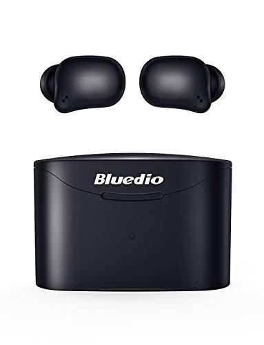 Auricolari Bluetooth, Bluedio T-Elf 2 Auricolari Wireless 5.0 Cuffie Bluetooth in Ear Auricolari Senza Fili Sportivi Mini Cuffie con Mic, Controlli Touch, Facile Accoppiamento, Durata Totale di 35 Ore