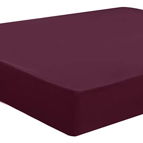 PiccoCasa Spannbettlaken Matratzenschutz Betttuch Matratzenschoner 100% 5 Seiten TPU wasserdicht Gebürstete Mikrofaser Matratzenschutz-Hülle Rot 150x200-160x220 cm