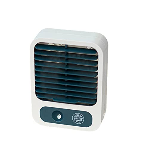 Voupuoda Mini ventilador de mesa USB silencioso, portátil, ventilador ajustable, ángulo recargable, con batería de 1500 mAh, para oficina, casa, escuela