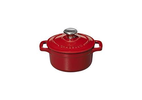 Chasseur PUC471003 Mini-cocotte, 10 cm, Rouge, 0.35 liters, (intérieur Sable)