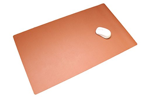 【iMakim's】 PUレザー デスクマット & マウスパッド デスクパッド ナチュラル ブラウン 0740