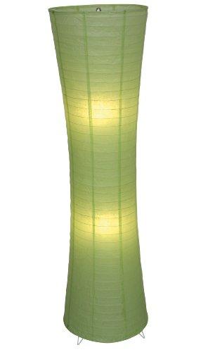 Naeve Leuchten Deko-Stehleuchte/exklusiv Leuchtmittel/h-123 cm/d-30 cm/Metallgestell/Papier/grün 2003617