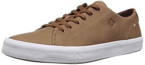 SPERRY Men's Striper II LTT Leather Sneaker, tan, 10.5 Medium US